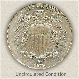 1873 Nickel Uncirculated Condition