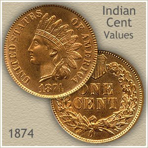 Uncirculated 1874 Indian Head Penny