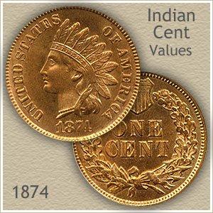 Uncirculated 1874 Indian Head Penny