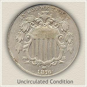 1876 Nickel Uncirculated Condition