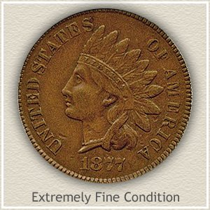 1877 Indian Head Penny Extremely Fine Condition