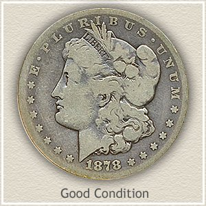 1878 Morgan Silver Dollar Good Condition