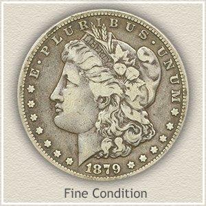 1879 Morgan Silver Dollar Fine Condition