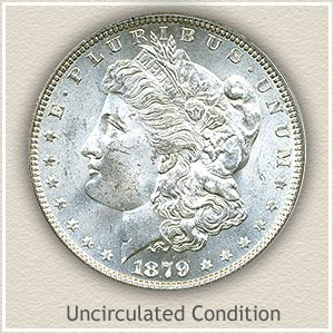 1879 Morgan Silver Dollar Uncirculated Condition