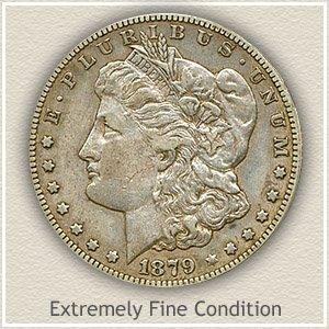 1879 Morgan Silver Dollar Extremely Fine Condition
