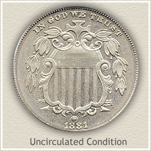 1881 Shield Nickel | Uncirculated Condition