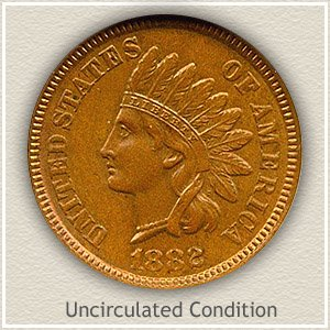 1882 Indian Head Penny Uncirculated Condition