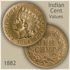 Uncirculated 1882 Indian Head Penny