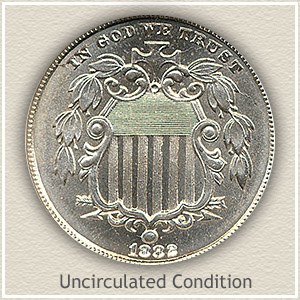 1882 Nickel Uncirculated Condition