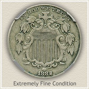 1882 Shield Nickel Extremely Fine Condition