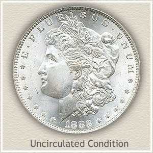 1883 Morgan Silver Dollar Uncirculated Condition