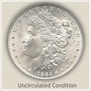 1884 Morgan Silver Dollar Uncirculated Condition