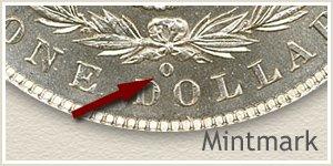 Mintmark Location 1885-O Morgan Silver Dollar