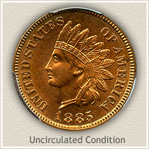 1885 Indian Head Penny Uncirculated Condition