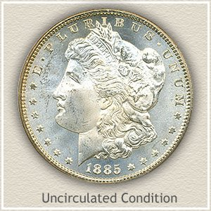 1885 Morgan Silver Dollar Uncirculated Condition