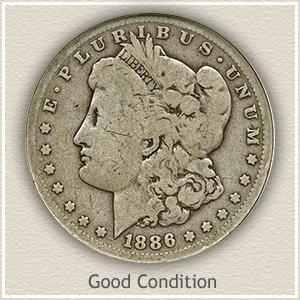 1886 Morgan Silver Dollar Good Condition