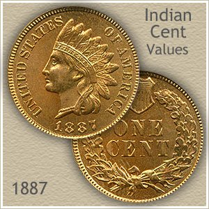 Uncirculated 1887 Indian Head Penny