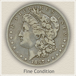 1887 Morgan Silver Dollar Fine Condition