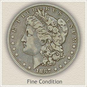 1887 Morgan Silver Dollar Fine Condition