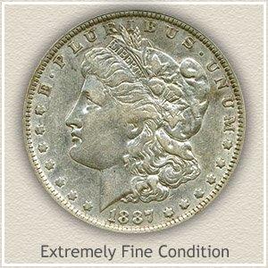 1887 Morgan Silver Dollar Extremely Fine Condition