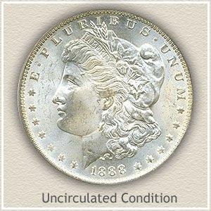 1888 Morgan Silver Dollar Uncirculated Condition