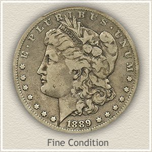 1889 Morgan Silver Dollar Fine Condition