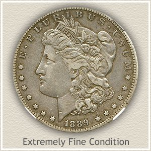1889 Morgan Silver Dollar Extremely Fine Condition
