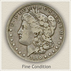 1890 Morgan Silver Dollar Fine Condition