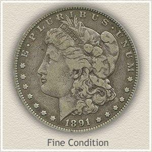 1891 Morgan Silver Dollar Fine Condition