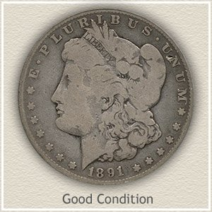 1891 Morgan Silver Dollar Good Condition