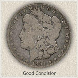 1891 Morgan Silver Dollar Good Condition