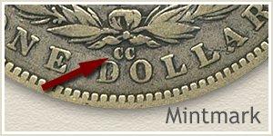Mintmark Location 1892 Morgan Silver Dollar