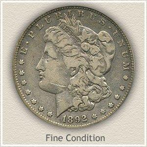 1892 Morgan Silver Dollar Fine Condition