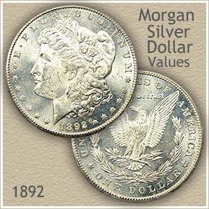 Uncirculated 1892 Morgan Silver Dollar Value