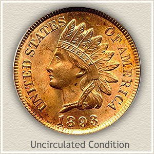 1893 Indian Head Penny Uncirculated Condition