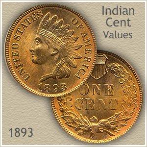 Uncirculated 1893 Indian Head Penny