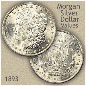 Uncirculated 1893 Morgan Silver Dollar Value