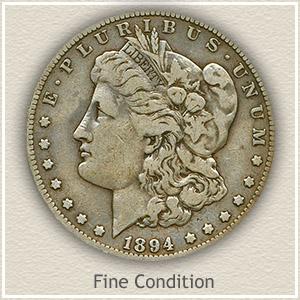 1894 Morgan Silver Dollar Fine Condition