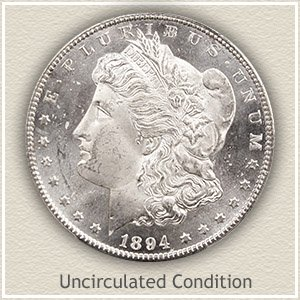 1894 Morgan Silver Dollar Uncirculated Condition