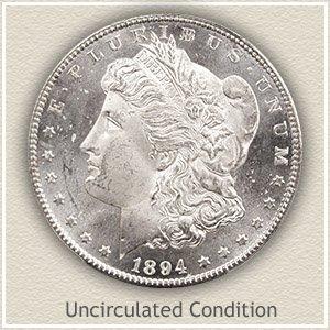1894 Morgan Silver Dollar Uncirculated Condition