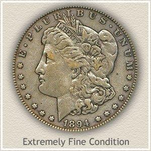 1894 Morgan Silver Dollar Extremely Fine Condition