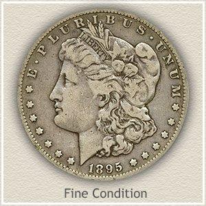 1895 Morgan Silver Dollar Fine Condition
