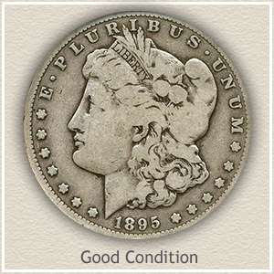 1895 Morgan Silver Dollar Good Condition