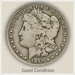 1895 Morgan Silver Dollar Good Condition