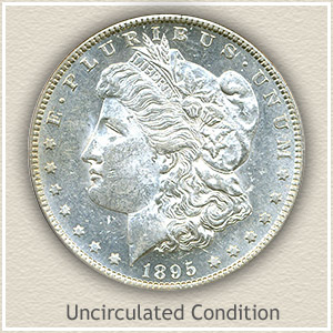 1895 Morgan Silver Dollar Uncirculated Condition