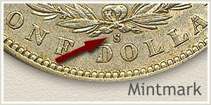 Mintmark Location 1896 Morgan Silver Dollar