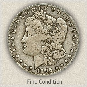 1896 Morgan Silver Dollar Fine Condition