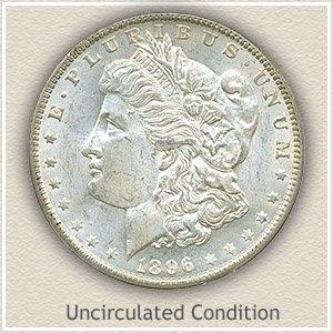 1896 Morgan Silver Dollar Uncirculated Condition