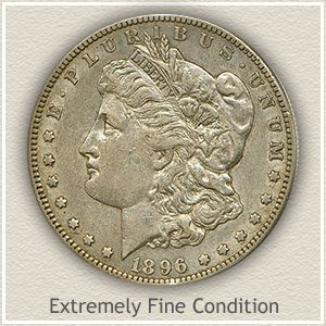 1896 Morgan Silver Dollar Extremely Fine Condition