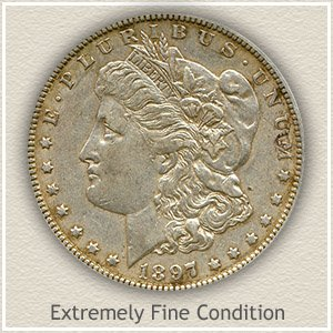 1897 Morgan Silver Dollar Extremely Fine Condition